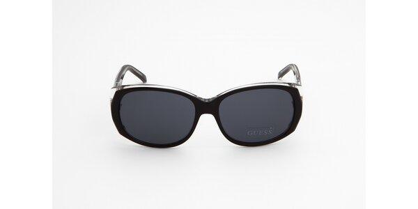 Dámské černo-bílé sluneční brýle Guess