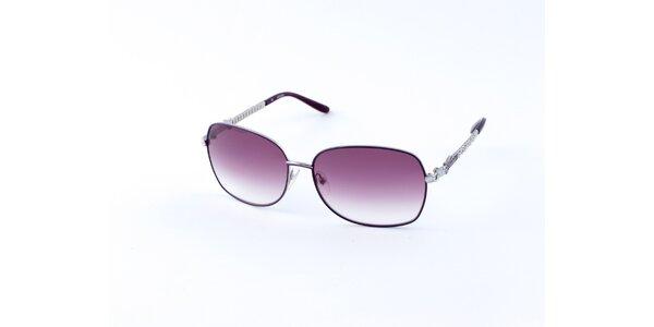 Dámské fialovo-stříbrné sluneční brýle Guess