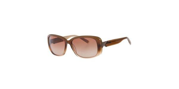 Dámské světle hnědé sluneční brýle Calvin Klein