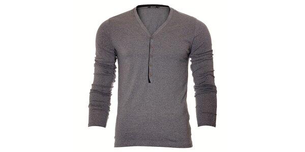 Pánské šedé tričko Free Wave s dlouhým rukávem