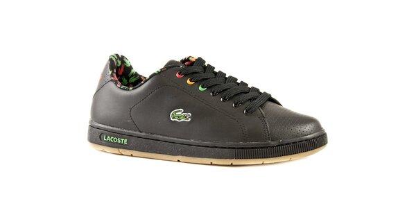 Dámské černé kožené boty Lacoste