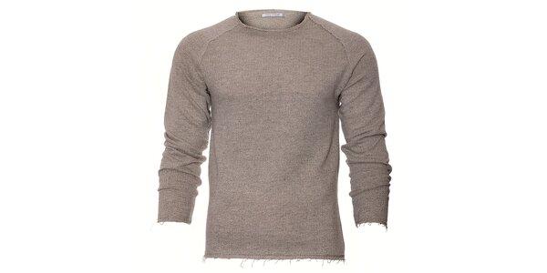 Pánské šedé melírované tričko Free Wave s dlouhým rukávem