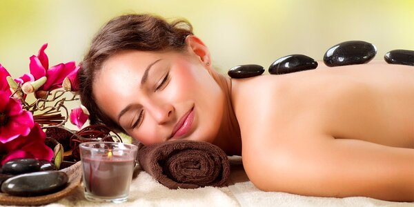 45minutová relaxační masáž lávovými kameny