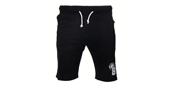 Pánské černé bavlněné šortky s krátkými nohavičkami