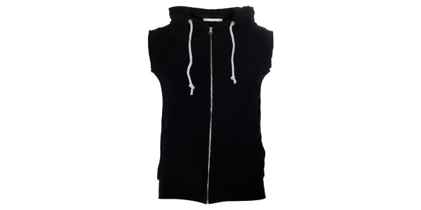 Pánská černá vesta Free Wave s kapucí