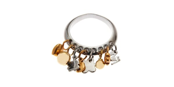 Dámský prsten Miss Sixty s mini talismany