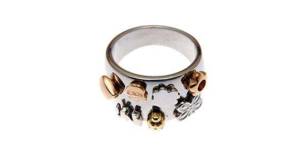 Dámský široký prsten Miss Sixty s mini talismany