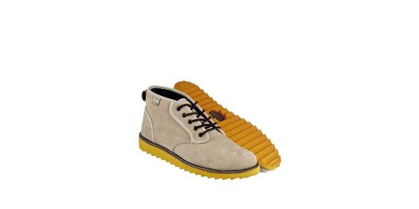 Pánské béžové kožené boty Lacoste