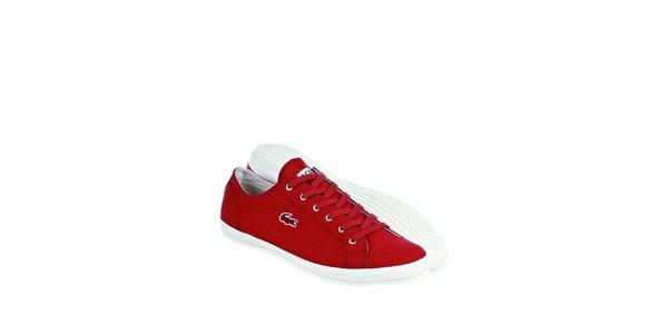 Pánské červené tenisky Lacoste