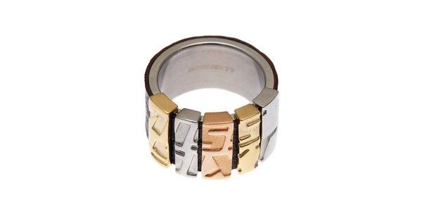 Dámský prsten Miss Sixty s koženou aplikací