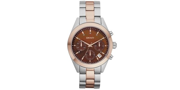 Dámské zlato-stříbrné náramkové hodinky DKNY