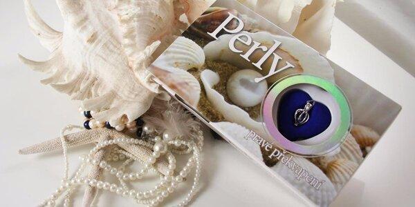 Perla přání v opravdové perlorodce a náhrdelník