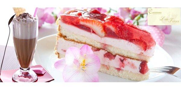 62 Kč za DVĚ ledové kávy nebo latté a DVA ovocné dortíky