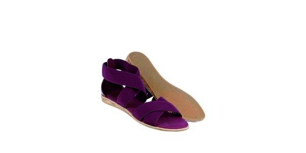 Dámské fialové sandály Lacoste