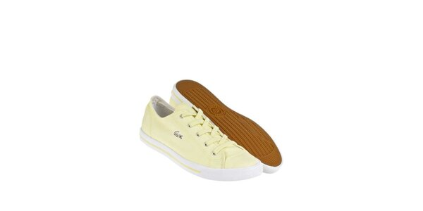 Dámské vanilkově žluté tenisky Lacoste