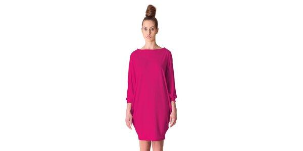 Dámské třešňovo-růžové šaty tulipánového střihu Yuliya Babich