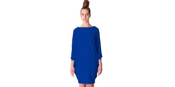 Dámské kobaltově modré šaty tulipánového střihu Yuliya Babich