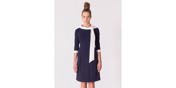 Dámské modro-bílé retro šaty Yuliya Babich