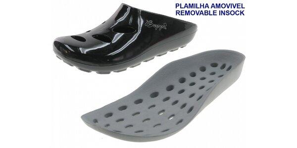 Dámské černé pantofle Beppi s vyjímatelnou stélkou