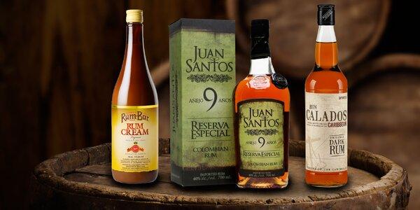 Třtinové rumy z Guyany, Jamajky a Kolumbie