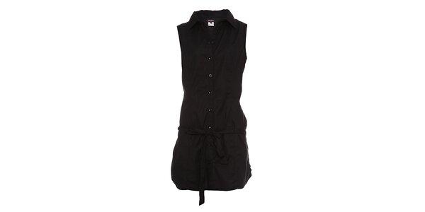 Dámské černé košilové šaty Miss Sixty