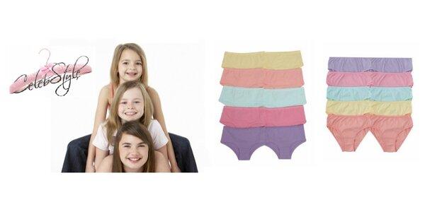 Balení 10 ks dívčích kalhotek či kraťásků zn. Matalan
