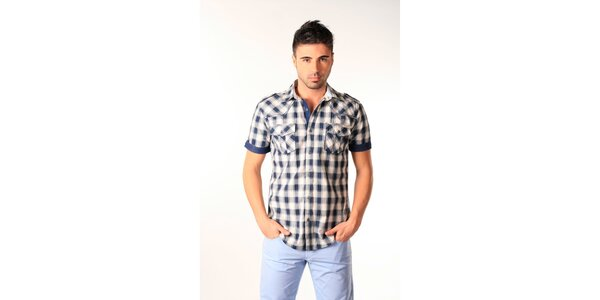 Pánská modro-bílá kostkovaná košile SixValves