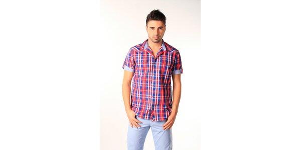 Pánská modro-červená kostkovaná košile SixValves