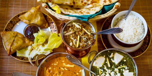 Exotické chutě na talíři: indické menu pro dva