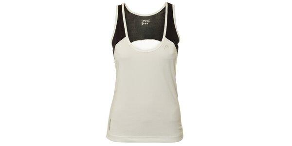 Dámské černo-bílé triko bez rukávů Head