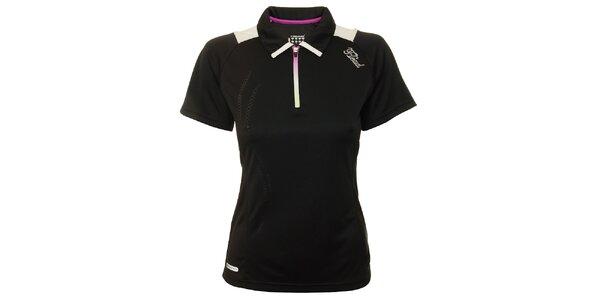 Dámské černé tenisové triko s bílými detaily Head