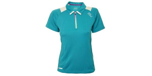 Dámské tyrkysové tenisové triko s bílými detaily Head