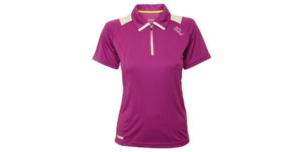 Dámské fialové tenisové triko s bílými detaily Head