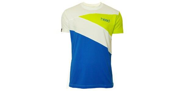 Pánské zeleno-modro-bílé triko s krátkými rukávy Head