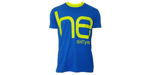 Pánské modro-žluté triko s krátkým rukávem Head