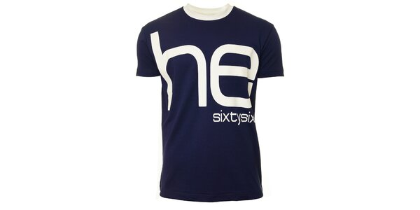 Pánské modro-bílé triko s krátkým rukávem Head