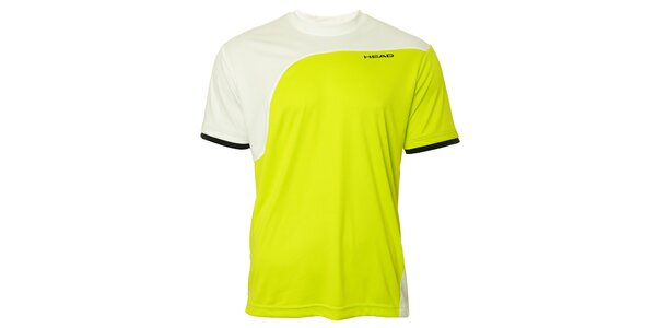 Pánské žluto-bílé sportovní triko Head