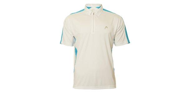 Pánské bílo-modré tenisové triko Head