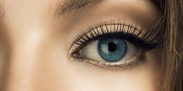 Péče o oči s barvením řas a masáží očního okolí
