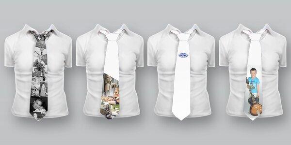 Saténová kravata s vlastní fotkou