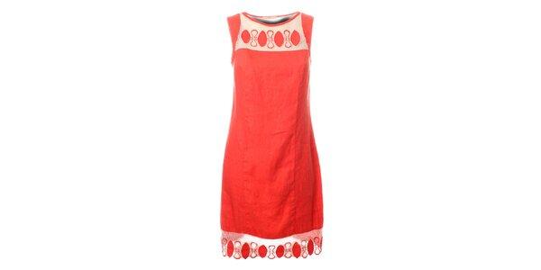 Dámské korálově růžové šaty Via Bellucci