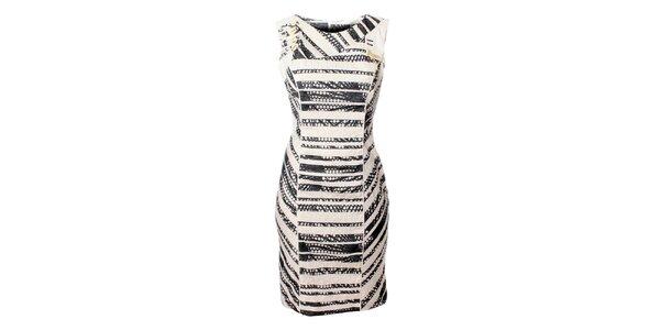 Dámské černo-bílé proužkované šaty Via Belluci