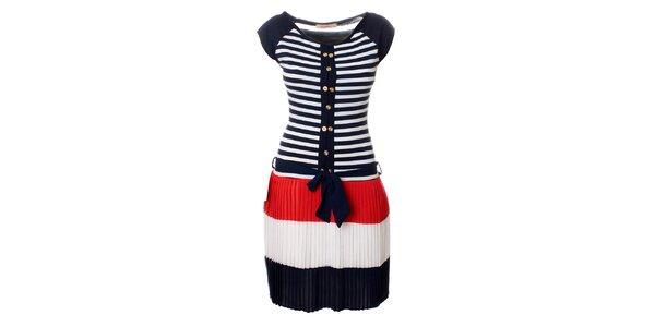 Dámské modro-červeno-bílé šaty Via Bellucci