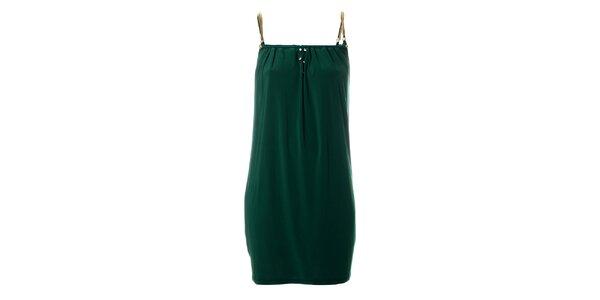 Dámské tmavě zelené šaty Via Bellucci