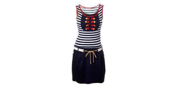 Dámské tmavě modré námořnické šaty Via Belluci