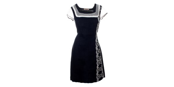 ef033758fd6 Dámské tmavě modré šaty Via Bellucci