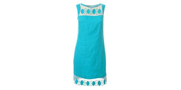 Dámské azurově modré šaty Via Belluccci