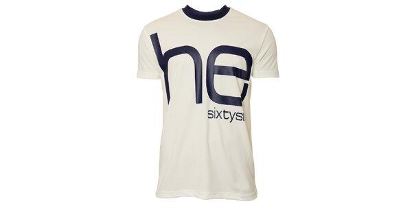 Pánské bílé triko s modrým nápisem Head