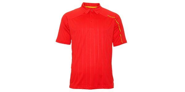Pánské červené triko s proužky Head