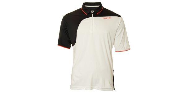 Pánské černo-bílé tenisové triko Head